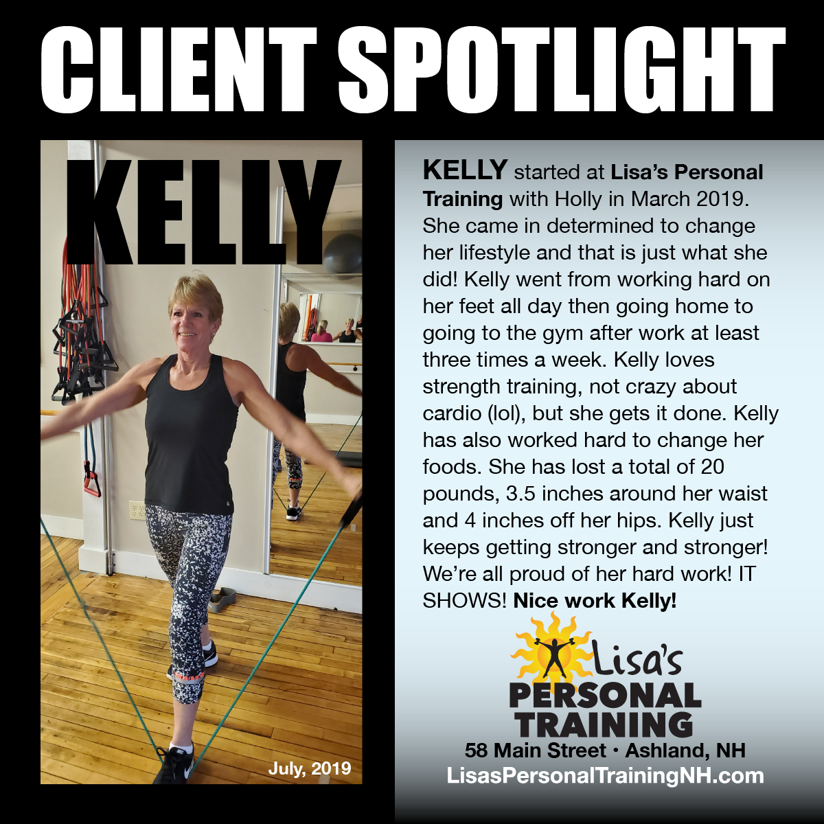 Kelly at Lisa's Personal Training
