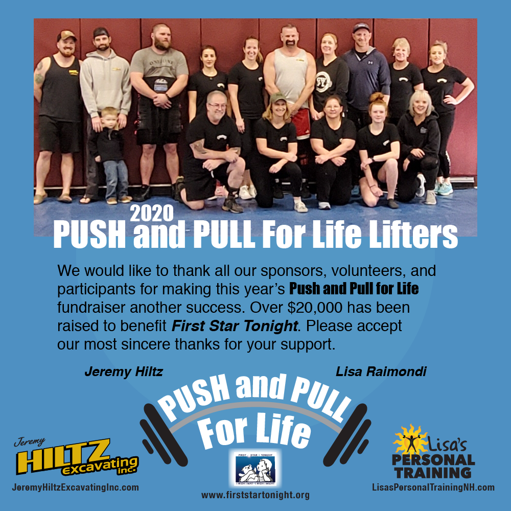 Push and Pull Event 2020 sponsored by Lisa's Personal Training and Jeremy Hertz Excavation