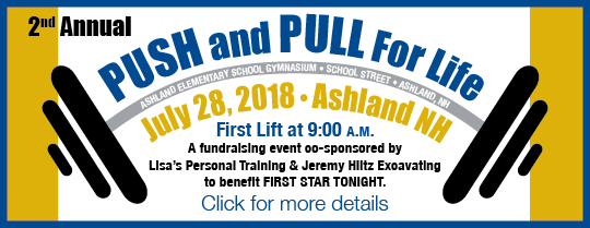 Push and Pull for Life annual lifting event for First Star Tonight, Ashland, NH