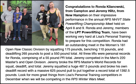 Lisa's Personal Training Team Members Ronda and Jeremy
