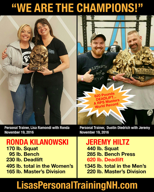 Trophy winners at Lisa's Personal Training in Ashland, NH
